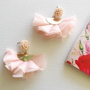 Blush Handmade Statement Earrings